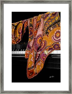 Piano With Scarf Framed Print by Madeline Ellis
