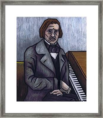 Piano's Finest Poet Fryderyk Chopin Framed Print by Kamil Swiatek