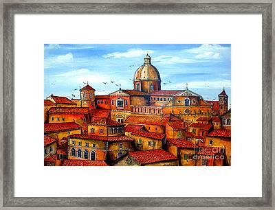 Piazza Armerina Sicily Framed Print