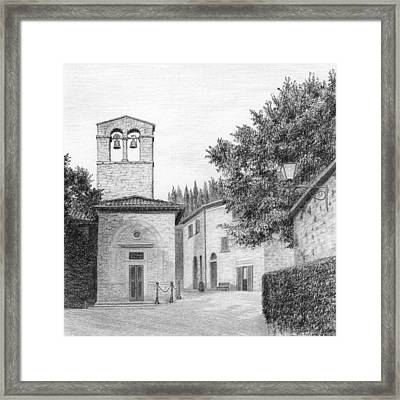 Piazza At San Cristoforo Framed Print by Diane Cardaci