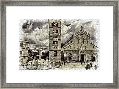 Piazza Del Duomo Framed Print by Maria Coulson