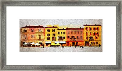 Framed Print featuring the drawing Piazza Del Popolo by William Renzulli