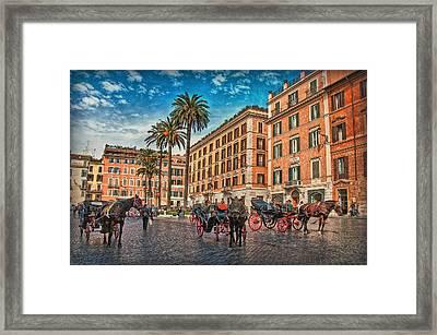 Piazza Di Spagna Framed Print