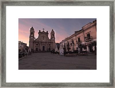 Piazza Duomo Terrasini Framed Print