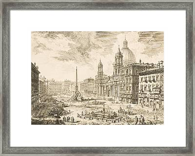 Piazza Navona Framed Print by Giovanni Battista Piranesi