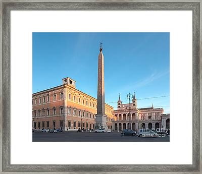 Piazza San Giovanni In Rome Framed Print by Jannis Werner