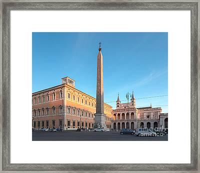 Piazza San Giovanni In Rome Framed Print