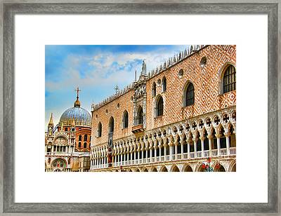 Piazza San Marco Framed Print by Mariola Bitner