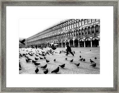 Piazza San Marco Venice Italy 1998 Framed Print by Heidi Wild