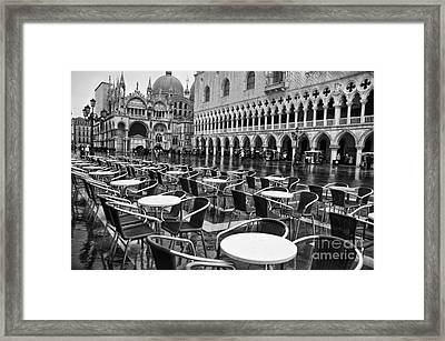 Piazza San Marco Venice Framed Print by Design Remix