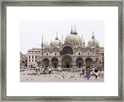 Framed Print featuring the photograph Piazza by Sandy Molinaro