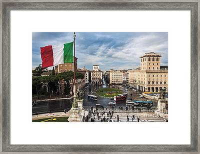 Piazza Venezia Framed Print