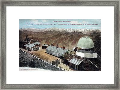 Pic Du Midi Observatory Framed Print by Detlev Van Ravenswaay