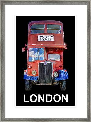 Picadilly Bus London Framed Print by Daniel Hagerman
