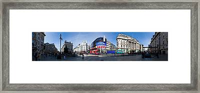 Picadilly Circus Framed Print by Georgia Fowler