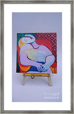 Framed Print featuring the painting Picasso by Diana Bursztein