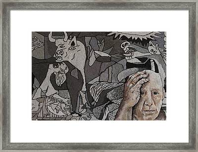 Picasso In Dryer Lint Framed Print