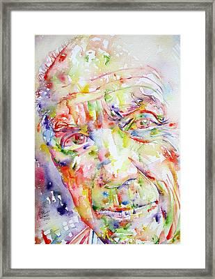 Picasso Pablo Watercolor Portrait.2 Framed Print by Fabrizio Cassetta