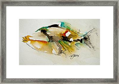 Framed Print featuring the painting Picasso Trigger by Jani Freimann