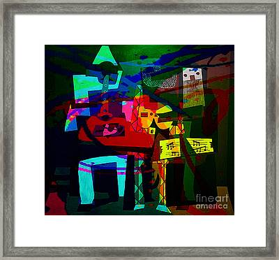 Picasso With A Twist Of Color. Framed Print