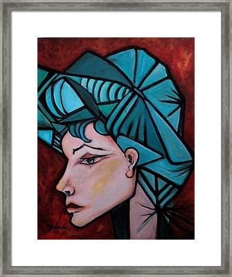 Framed Print featuring the painting Picassogirl by Yolanda Rodriguez