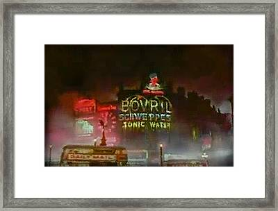 Piccadilly Circus 1930s Framed Print by Luke Golobitsh