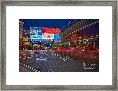 Piccadilly Circus Framed Print
