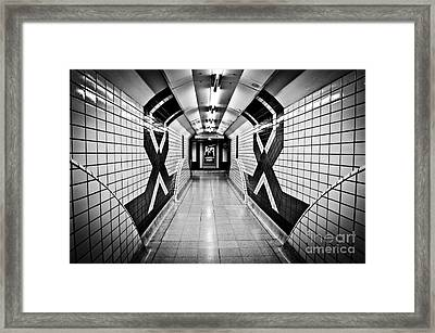 Piccadilly Circus Subway Framed Print