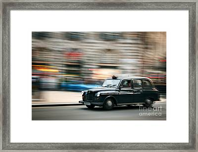 Piccadilly Taxi Framed Print