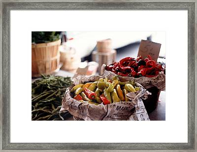 Pick A Pepper In Pastel Framed Print