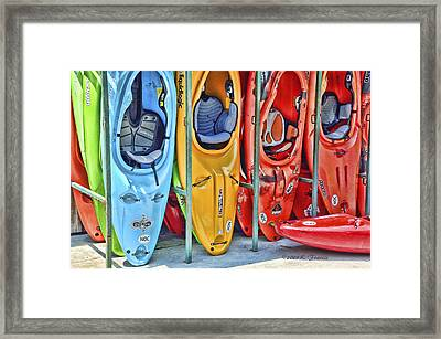 Pick Your Color Framed Print by Kenny Francis
