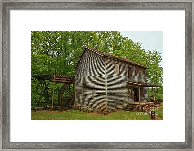 Pickens County Grist Mill Framed Print