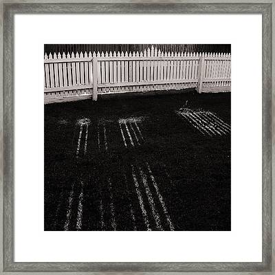 Picket Dreams Framed Print