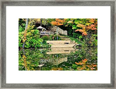 Picket Fence Framed Print