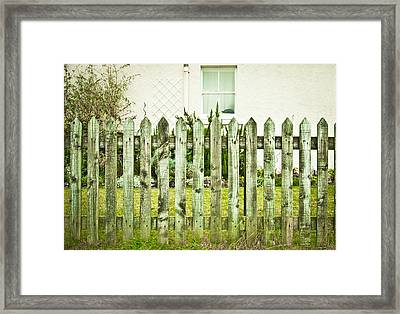 Picket Fence Framed Print by Tom Gowanlock