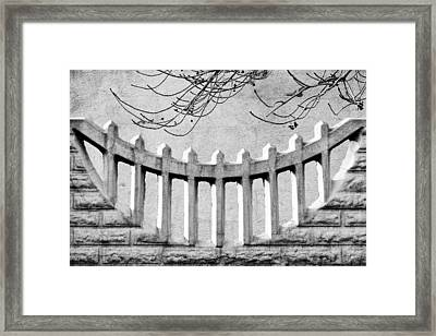 Picket Moon - Fence - Wall Framed Print