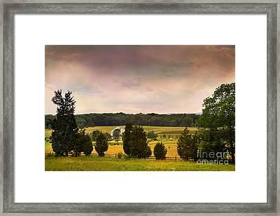 Pickets Charge - Gettysburg - Pennsylvania Framed Print by Madeline Ellis