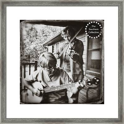 Pickin' And Fiddlin' On The Porch Framed Print