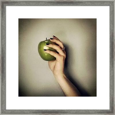 Picking Fruit Framed Print