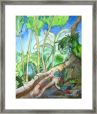 Picking Framed Print by Maya Simonson