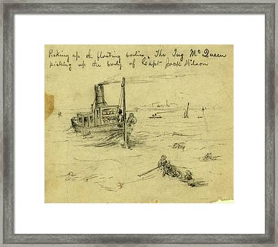 Picking Up The Floating Bodies. The Tug Mcqueen Picking Framed Print by Quint Lox