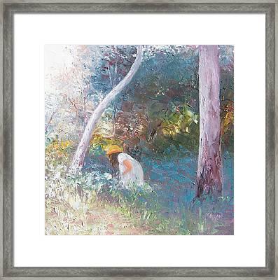 Picking Wildflowers Landscape Framed Print