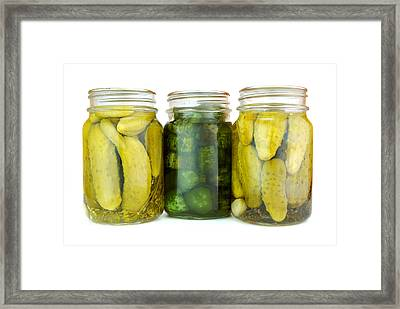 Pickle Jars Framed Print by Jim Hughes