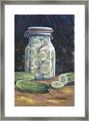 Pickled Cucumbers Framed Print by Claude Schneider