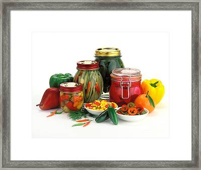 Pickled Products Framed Print by Craig Lovell
