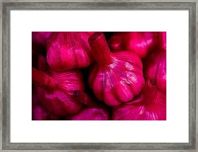 Pickled Red Garlic Framed Print by Alexander Senin