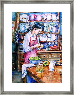 Pickling Pears  Framed Print by Trudi Doyle