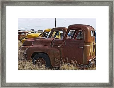 Pickup Cabs 2 Framed Print