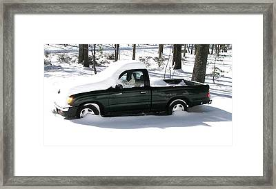 Framed Print featuring the photograph Pickup In The Snow by Pamela Hyde Wilson