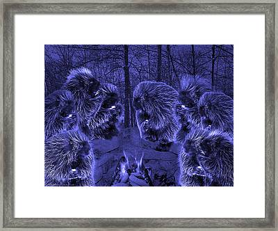 Picky Eaters In The Blue Moonlight Framed Print by LeeAnn McLaneGoetz McLaneGoetzStudioLLCcom